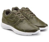Perforierte Leder-Sneakers