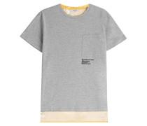 Baumwoll-Shirt mit Kontrast-Print