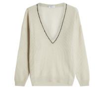 V-Pullover mit Mohair und Wolle