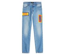 Print-Jeans aus Baumwolle