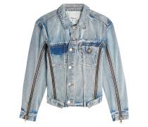 Jeansjacke mit Zippern