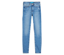 Straight Leg Jeans mit asymmetrischem Saum