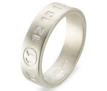 Logo-Ring aus Silber