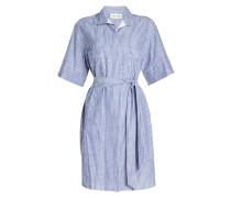 Gestreiftes Blusenkleid aus Baumwolle