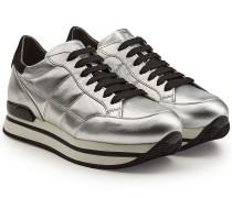 Plateau-Sneakers aus beschichtetem Leder