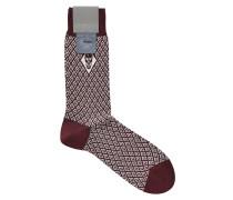 Socken mit Baumwolle und Totenkopf-Motiv