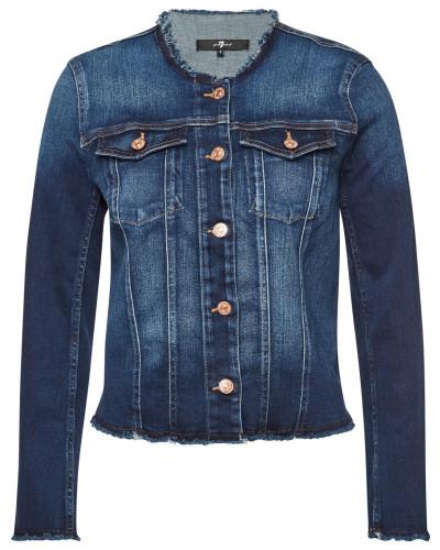 Jeansjacke mit ausgefransten Säumen