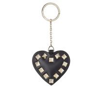 Schlüsselanhänger Rockstud Heart aus Leder