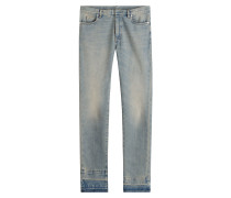 Straight-Leg-Jeans aus Baumwolle