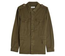 Bestickte Military-Jacke aus Baumwolle