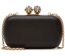 Verzierte Box Clutch Queen&King aus Leder