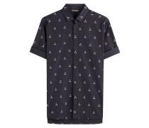 Kurzarm-Hemd aus Baumwolle mit Muster-Print