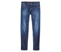 Straight Leg Jeans mit Stickerei