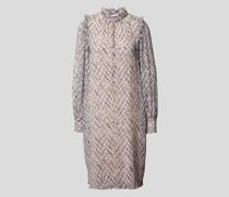 Knielanges Kleid mit Muster
