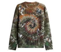 Print-Sweatshirt mit bestickten Schmetterlingen