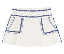 Bestickter Flared-Skirt Vittoria aus Baumwolle