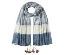 Gestreifter Schal aus Baumwolle mit Quasten