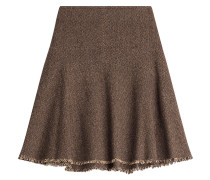 Flared-Skirt mit Fischgrätmuster