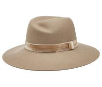 Fedora-Hut aus Wolle mit Samt