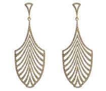 Ohrringe Escape aus 18kt Gelbgold mit weißen Diamanten