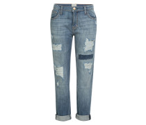 Distressed-Jeans aus Baumwoll-Stretch