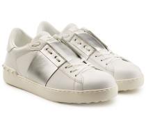 Leder-Sneakers Open mit Nieten