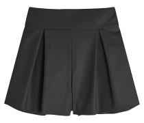 Baumwoll-Shorts mit Kellerfalten