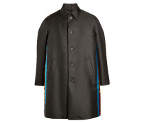 Oversized Mantel mit bedruckten Zierborten