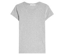 T-Shirt aus Baumwolle mit Ziernaht am Rücken