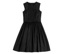 Besticktes Flared-Dress aus Baumwolle