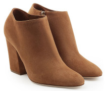 Ankle Boots Virginia aus Veloursleder mit Block Heel