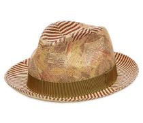 Panama-Hut aus Stroh mit Print