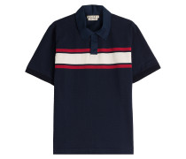 Polo-Shirt aus Baumwolle mit Colorblock-Streifen
