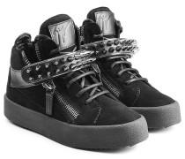 Sneakers aus Veloursleder mit Nieten