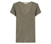 Baumwoll-Shirt mit V-Ausschnitt