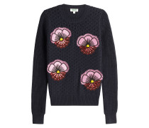 Pullover aus Wolle mit Patches
