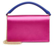 Handtasche aus Satin und Leder