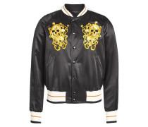 Bestickte College-Jacke aus Baumwolle und Seide