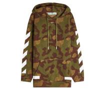 Camouflage-Hoodie aus Baumwolle mit Print