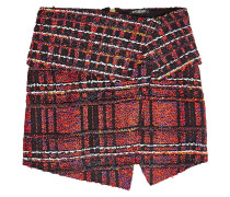 Karierter Minirock aus Tweed