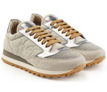 Sneakers mit Leder und Décor