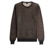 Baumwollpullover im Melange-Look