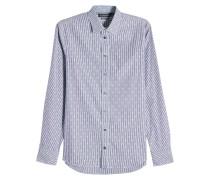 Gemustertes Hemd aus Baumwolle