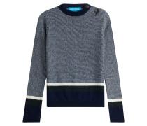 Gestreifter Pullover mit Wolle