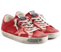 Sneakers Super Star aus Veloursleder und Leder