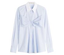 Bluse aus Baumwolle mit Schleife