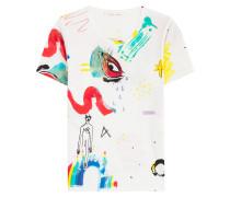 Print-Shirt Collage aus Baumwolle mit Glitter