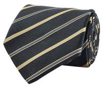 Gestreifte Krawatte aus Seide und Baumwolle