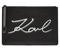 Clutch K/Signature aus Leder