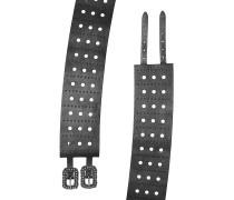 Breiter Gürtel aus Leder mit Cut Outs